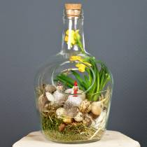 Szklana butelka ozdobny słoik z korkiem Ø19cm H30cm