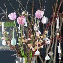 Gałąź kwiatu wiśni różowa 100 cm