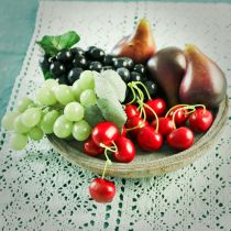 Winogrona ozdobne czarne 18 cm