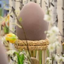 Jajko wielkanocne flokowane duże 40cm