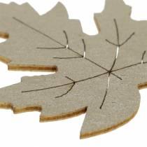Scatter Deco Liście Klonu Żółte, Brązowe, Platynowe Asortyment 4cm 72szt.