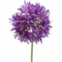 Allium ozdobne sztuczne fioletowe Ø12cm H62cm