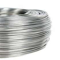 Drut aluminiowy 1,5mm 1kg srebrny