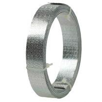 Taśma aluminiowa płaska drut srebrny mat 20mm 5m