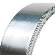 Drut aluminiowy płaski srebrny 30mm 3m