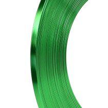 Aluminiowy płaski drut jabłkowy zielony 5mm 10m