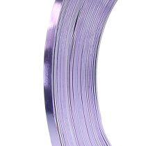 Płaski drut aluminiowy lawendowy 5mm 10m