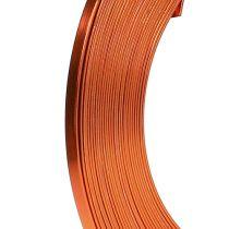 Drut płaski aluminiowy pomarańczowy 5mm 10m