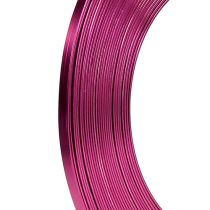 Drut aluminiowy płaski różowy 5mm 10m