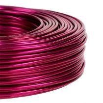Drut aluminiowy Ø2mm 500g 60m różowy