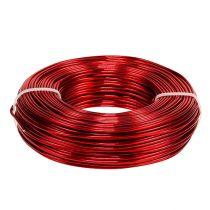 Drut aluminiowy Ø2mm 500g 60m czerwony