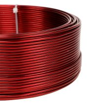 Drut aluminiowy czerwony Ø2mm 500g (60m)