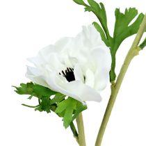 Zawilec sztuczny biały 6szt