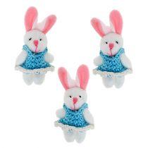 Wisiorek króliczek 5,5cm niebieski 9szt