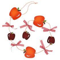 Girlanda jabłkowa czerwona 86cm 3szt