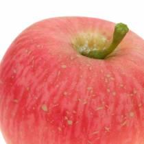 Dekoracja Jabłko różowe, żółte Real Touch 6,5cm 6szt.