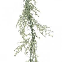 Sztuczna girlanda szparagowa biała, szara Deco Hanger 170cm