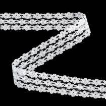 Wstążka Koronkowa Biała 20mm 20m