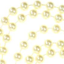 Wstążka perłowa kremowa 10mm 6m
