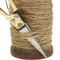 Taśma jutowa w rolce z nożyczkami Ø5cm H8cm 2szt.