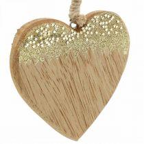 Ozdoba świąteczna gwiazdka / serce / choinka, drewniana zawieszka, dekoracja adwentowa H10/12,5cm 3szt.