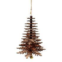 Drzewko wiszące miedziane z dzwonkiem 40cm