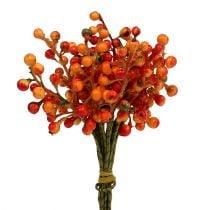 Pęczek jagód pomarańczowy L20cm
