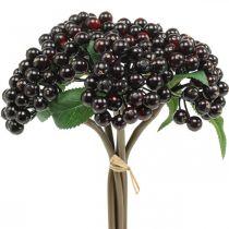 Berry Branch Red Black Artificial Deco Autumn Wreath 25cm 5szt w pakiecie