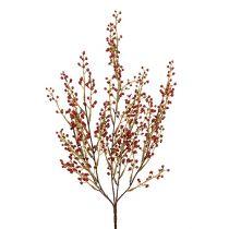 Gałązka jagodowa sztuczna czerwona 48cm 1szt.