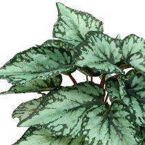 Sztuczny krzew begonii zielony 34cm