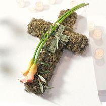 Krzyż piankowy mały czarny 42cm 4szt florystyka pogrzebowa