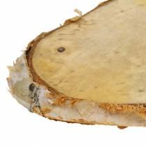 Krążki drewniane brzozowe owalne natura 7,5×13cm 1kg