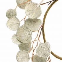 Wianek z liści Sztuczny Szampan Okrągłe liście Ø55cm