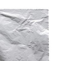 Liście metalowe listki srebrne 100szt