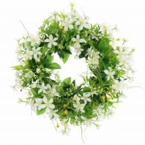 Wieniec Anemone/Dill Green, White Ø30cm