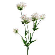 Gałązka kwitnąca biała L70cm
