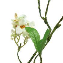 Gałązka kwitnąca biała L 65cm 1szt
