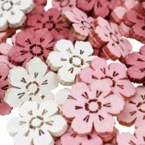 Rozsypanka dekoracyjna kwiaty wiśni, kwiaty wiosenne, dekoracja stołu, drewniane kwiaty do rozsypania 144szt.