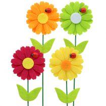 Dekoracyjny kwiat wtyczkowy z biedronką H24cm 12szt.