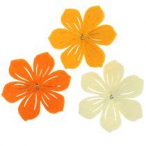 Kwiatek filcowy na klipsie 7cm 24szt