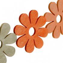 Kwiaty rozsypane Pomarańczowy, Morelowy, Brązowy Dekoracje rozsypane Drewno 72szt.