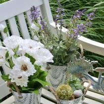 Dekoracja kwiatowa lawenda w doniczce sztuczne rośliny