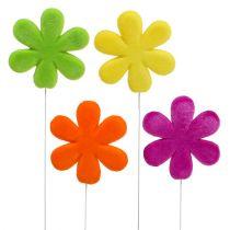 Korek kwiatowy flokowany kolorowy Ø8,5cm 8szt.