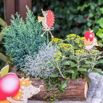 Jeż z zatyczką kwiatową, dekoracja drewniana, figurka jesienna H9,5cm L32cm 12szt.