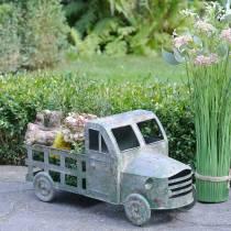 Doniczka Truck Zinc Grey, Green 42×17,5×19,5cm