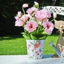 Doniczka metalowa kwiaty wiosna dekoracja sadzarka Ø15cm H15,5cm