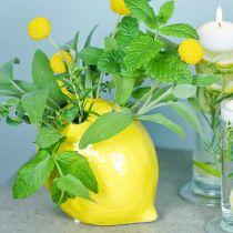 Wazon na kwiaty dekoracja cytryna wazon ceramiczny dekoracja letnia H11,5cm