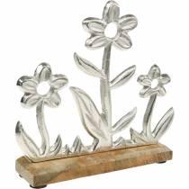 Wiosenna dekoracja kwiatowa podstawa łąkowa stojak z drewna mango dekoracja stołu