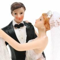 Dekoracja ślubna panna młoda i pan młody ręcznie malowana H13cm