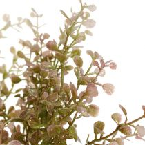Gałązka bukszpanu różowa, różowa z miką 32cm